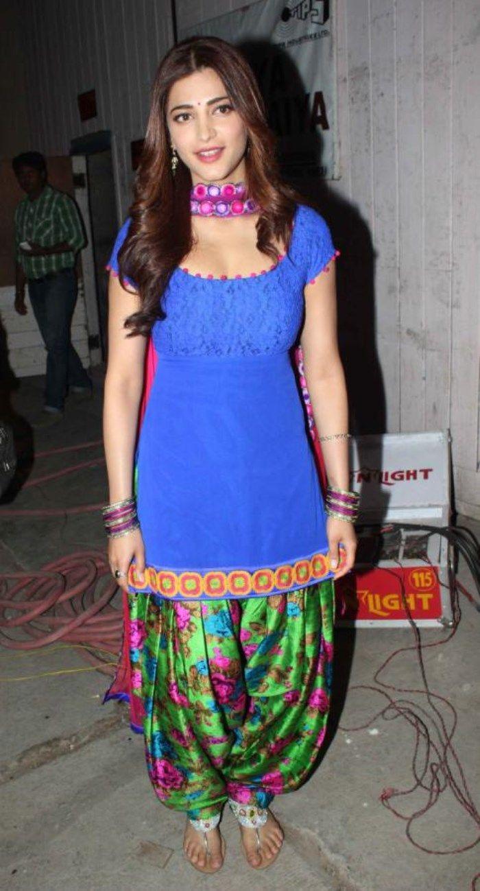 Shruti Hassan In Blue Salwar Kameez Hot Images  Indian