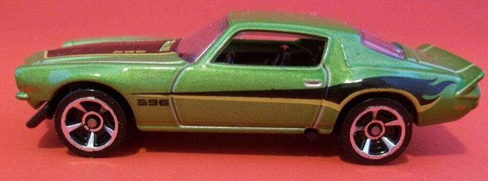 Hot Wheels 1970 Chevy Camaro 396 Muscle Car Green Hwtf Flames