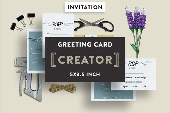 Invitation Card Mockups 5x3 5 In Dengan Gambar