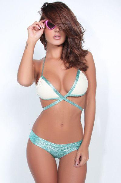 69f3068bb835f Montce Swim - Mermaid Skin Preview Bikini - Front View