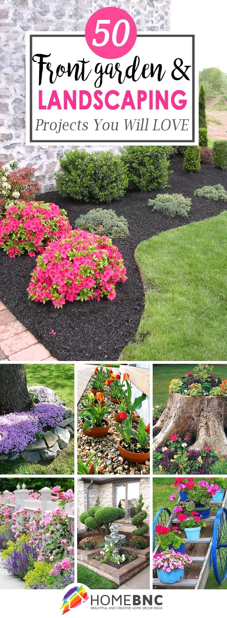 Front garden features  Gorgeous front garden and landscaping ideas that help highlight the