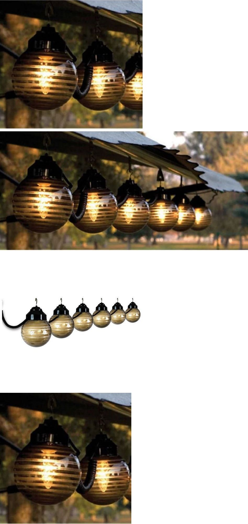 Outdoor String Lights 183394: Rv Patio Lights Party Porch Backyard Awning  String Lamp Large Globe