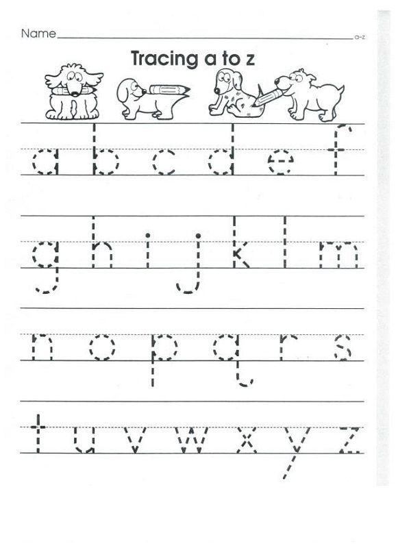 Lower Case Alphabet Tracing Worksheets for Kids | Activity Shelter ...