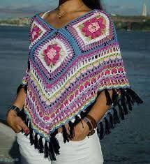cuadros echos a crochet para ponchos - Google Search