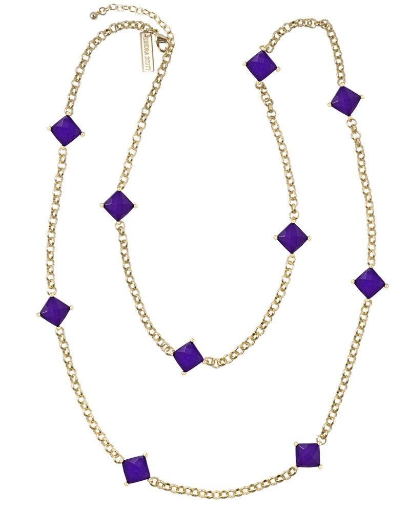 Tally necklace in purple kendrascott style howto pinterest