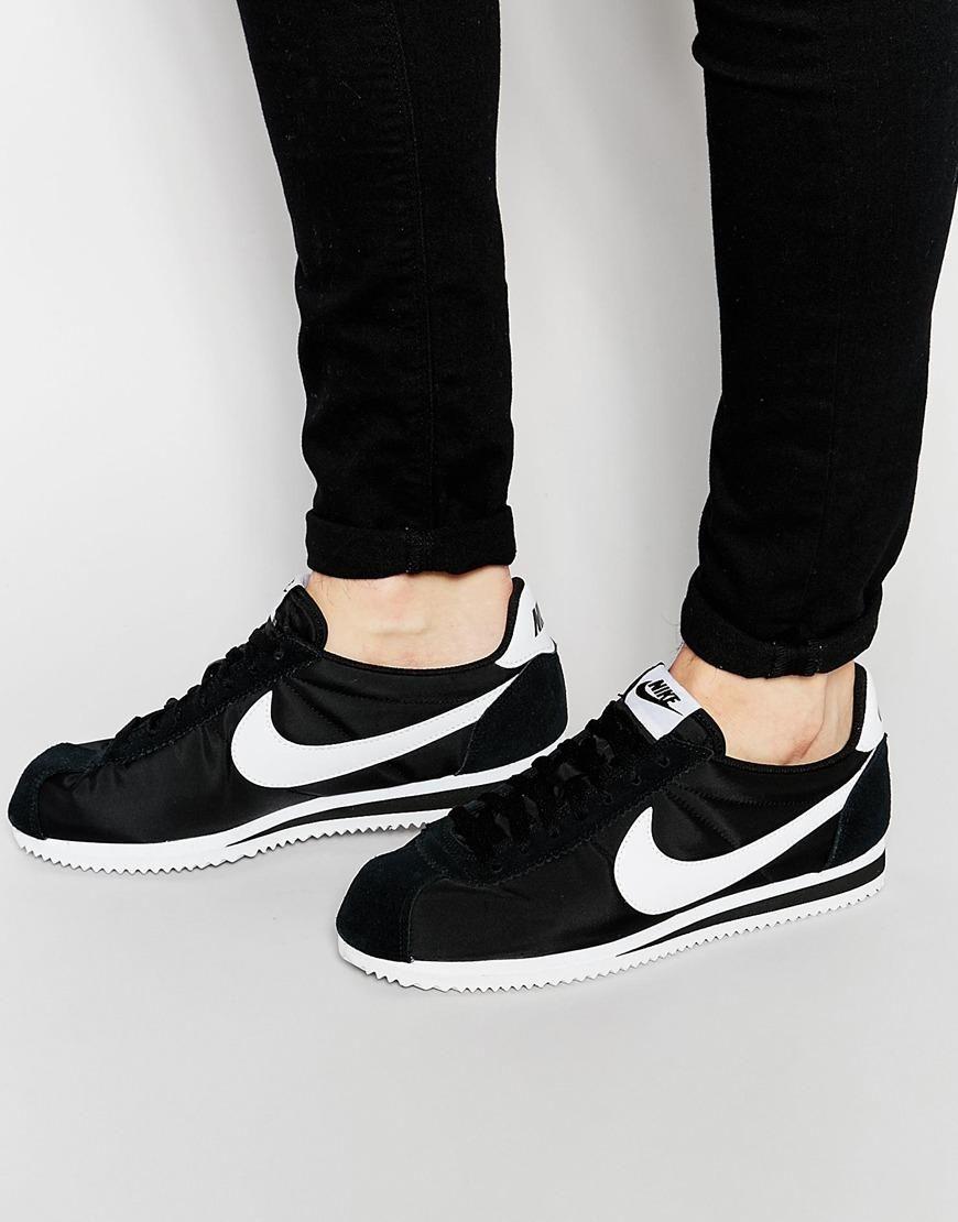7a21e5682 Nike | Nike Classic Cortez Nylon Trainers 807472-011 at ASOS | Tabas ...