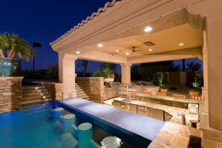 Swim up bar dream home paradise found pinterest for Outdoor pool bar ideas