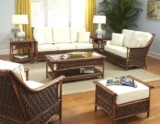 Raffles Rattan Wicker 4 Piece Set From Classic Rattan Model 4400