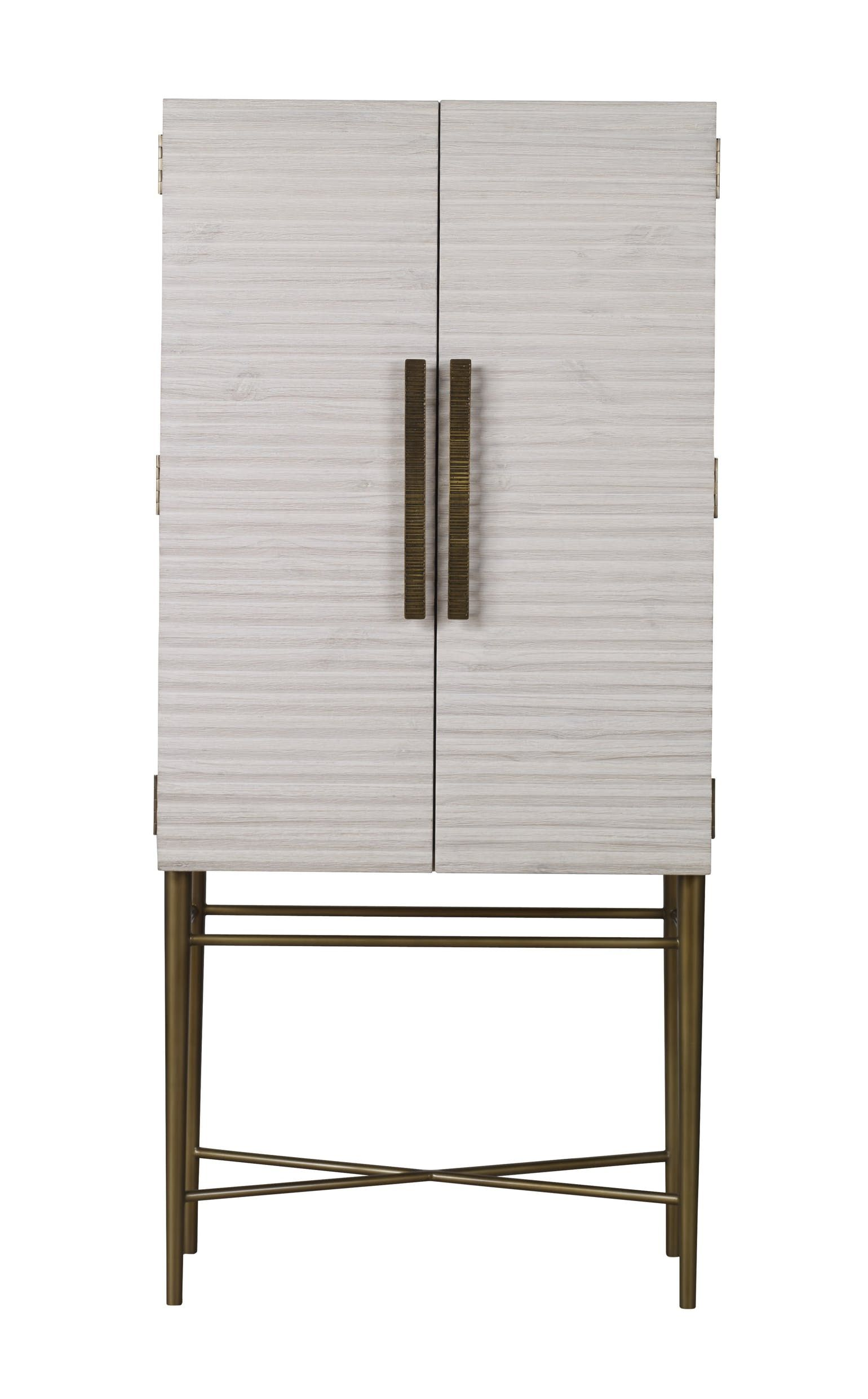 Belmont Small Tall Cabinet Bar Transitional Mid Century Modern