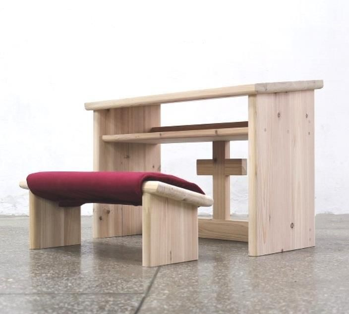 Details About Prayer Chair Kneeling Stool Wooden Cross Table Kneeler Praying Bench Prie Dieu
