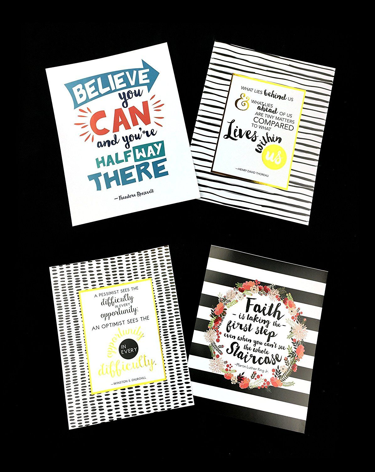 12 Inspirational Quote Art Prints