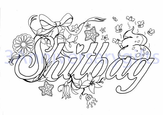 Swear Word Coloring Pages Printable Colouring Pages