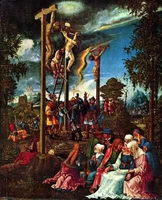 Calvary. Kalvarienberg. Altdorfer. Painting. 1526. Oil on canvas. Germanisches Nationalmuseum. Nürnberg.