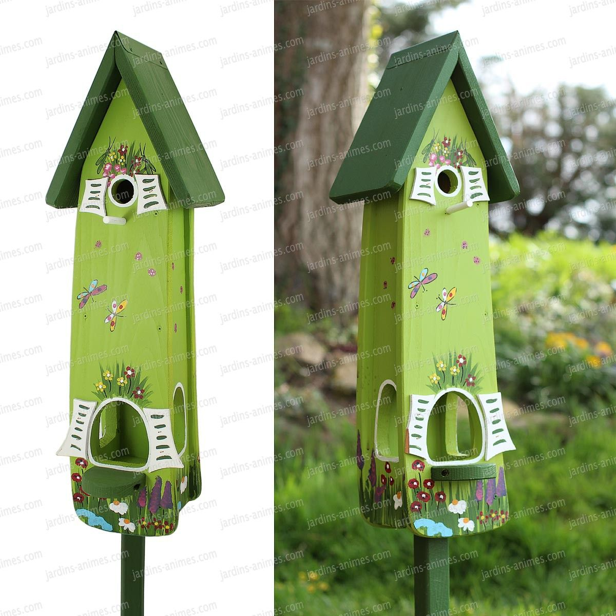 nichoir et mangeoire jardin magique vert bird houses birdhouse and gardens. Black Bedroom Furniture Sets. Home Design Ideas