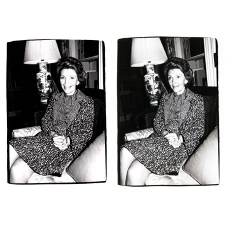 Andy Warhol - Nancy Reagan I and II | From a unique collection of black and white photography at http://www.1stdibs.com/art/photography/black-white-photography/