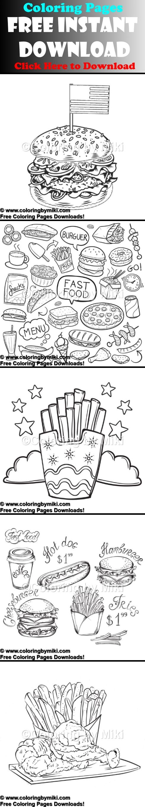 Free food coloring pages free downloads adult coloring pages
