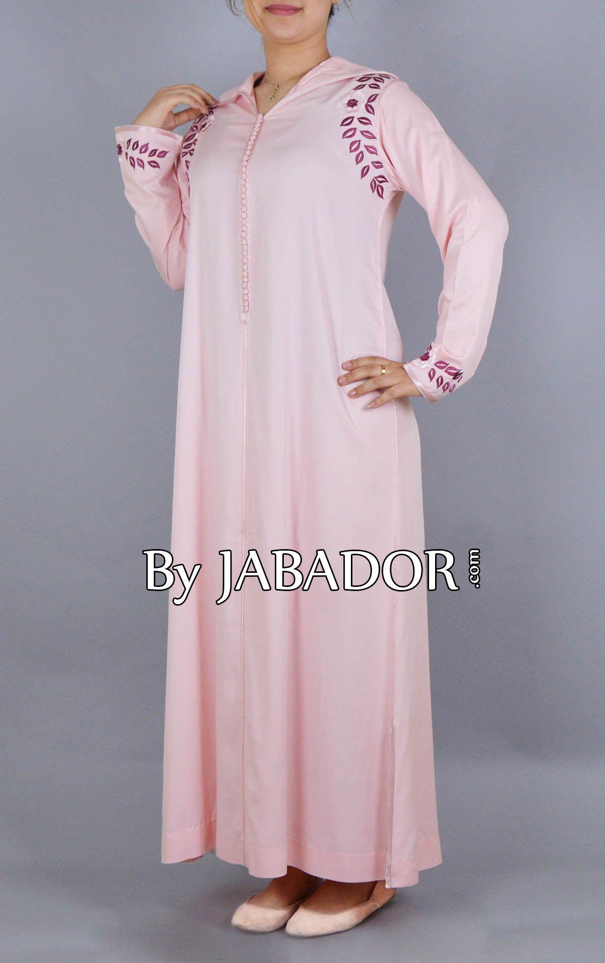 Robe rose et bordeaux