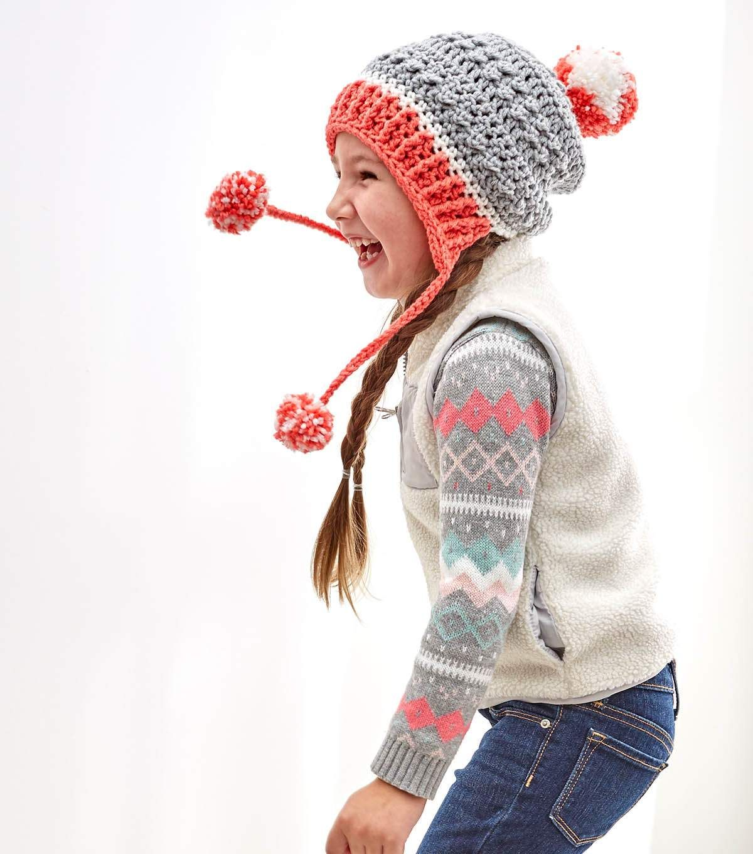 How To Crochet A Little Miss Pompom Hat | Crochet | Pinterest