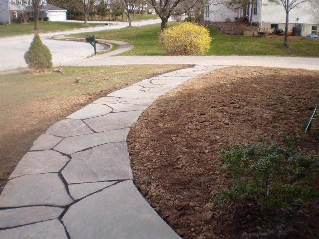 flagstone walkways devine escapes path pinterest flagstone