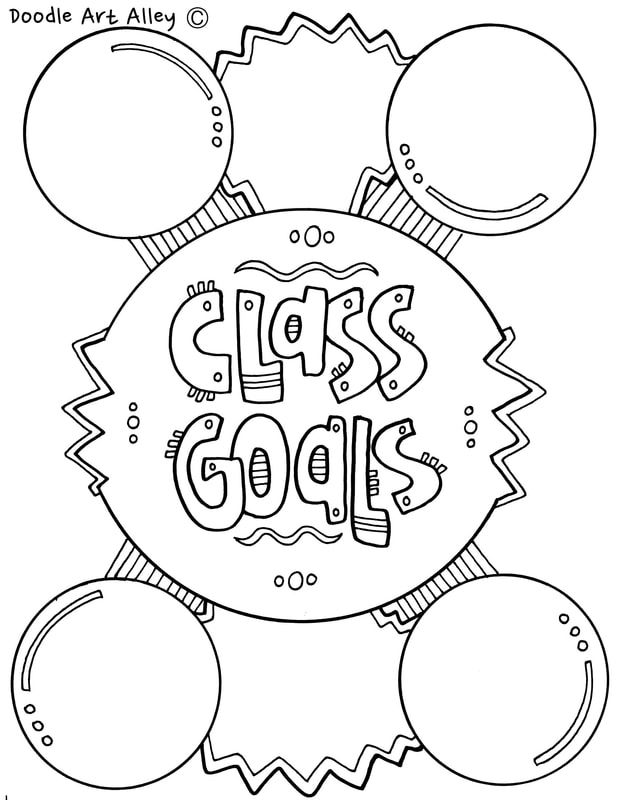 Goal Setting Coloring Pages Classroom Doodles Color Worksheets Coloring Pages Goal Setting
