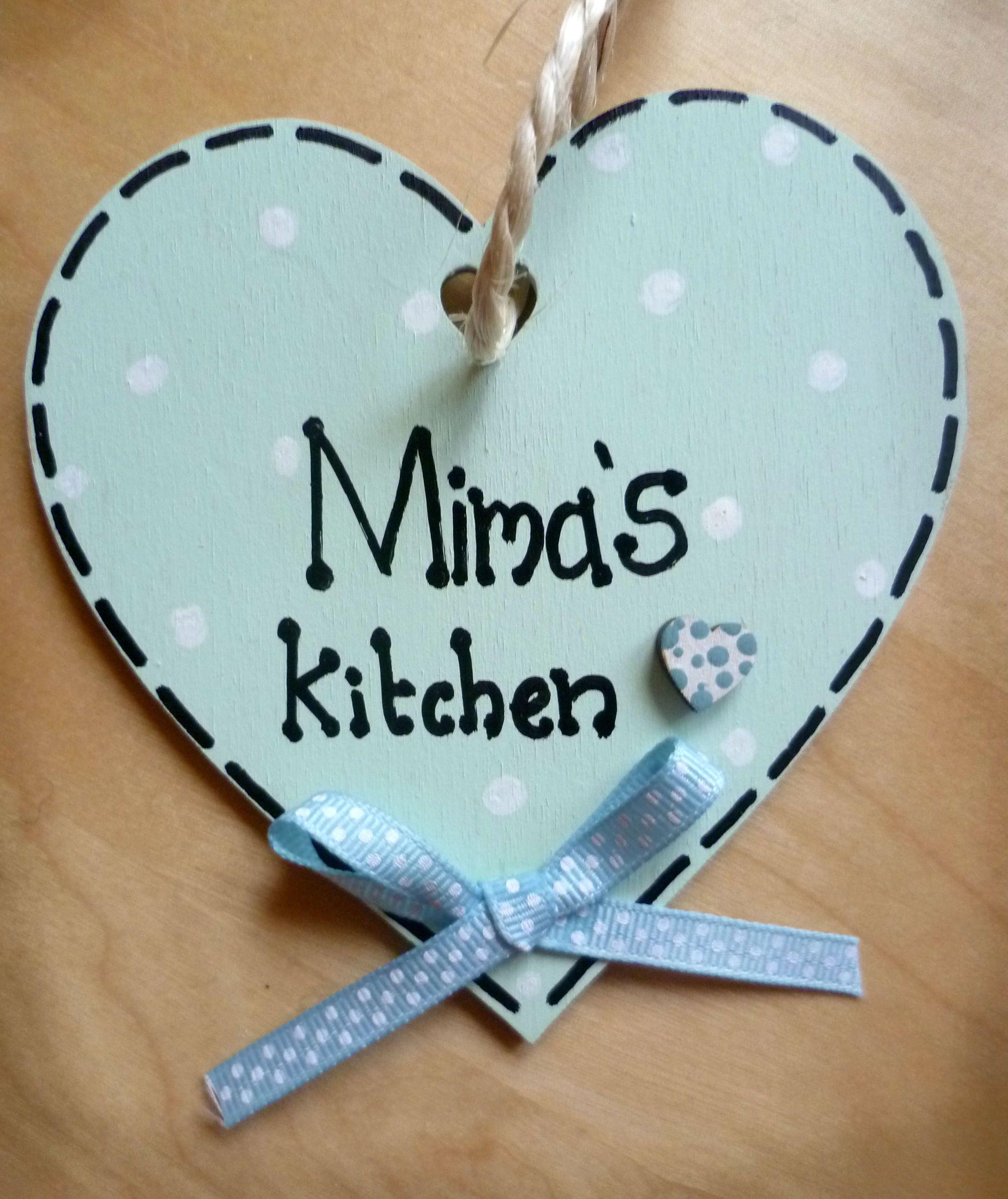 4.50 Kitchen sign/ plaque/ wooden heart hanger/ decoration/ baker ...