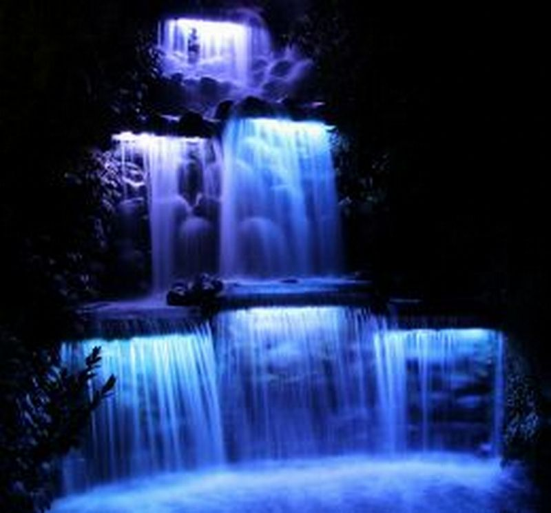 Waterfall lighting lighting ideas for Luxury landscape lighting