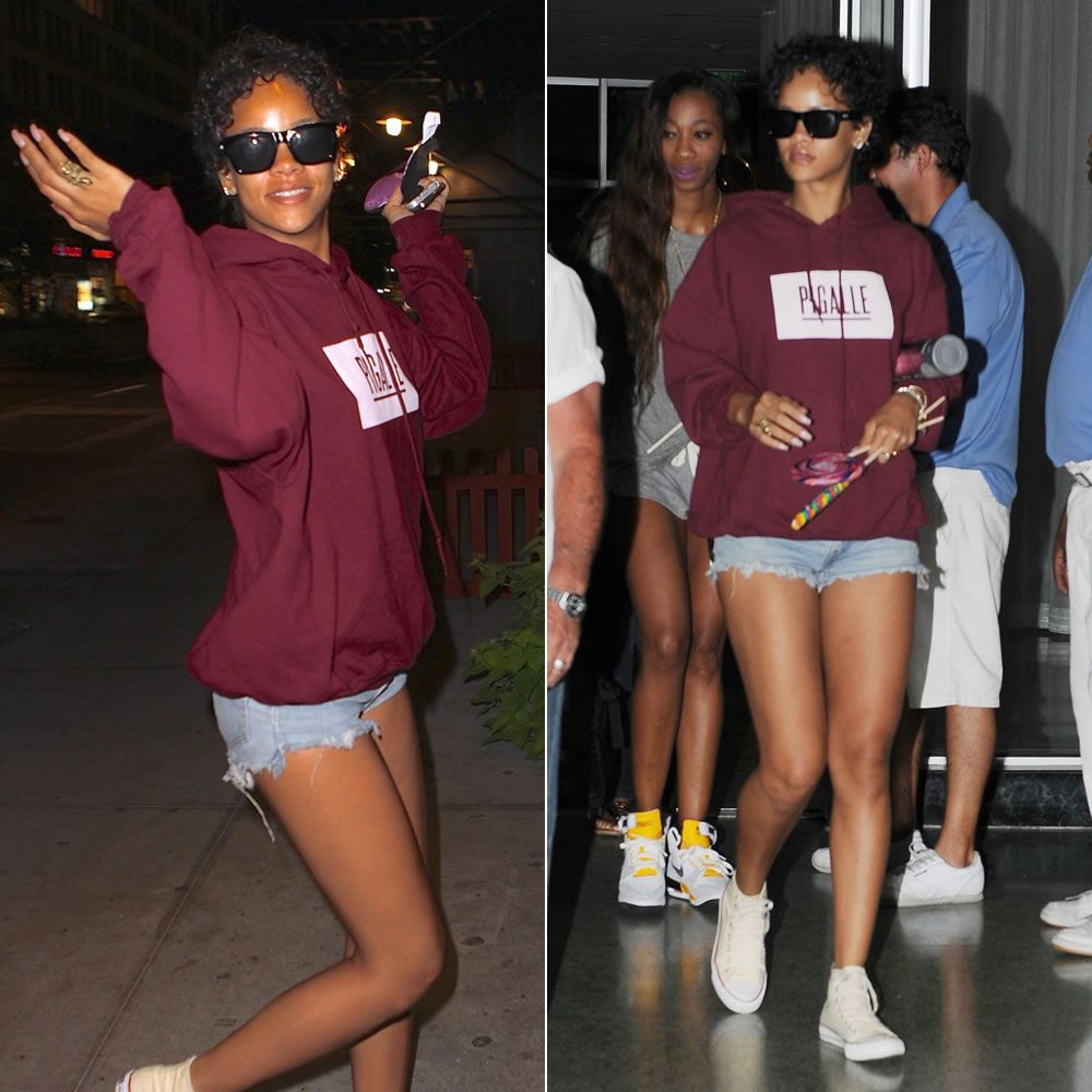 Rihanna Wears Her Puma Creeper Sneakers After Concert In Brazil
