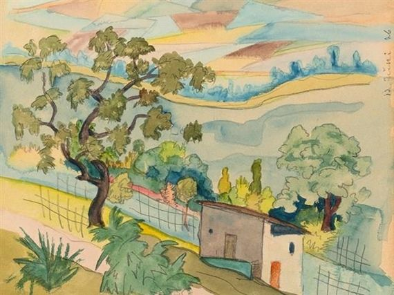Hermann Hesse Southern Landscape Art Impressionist Modern Art