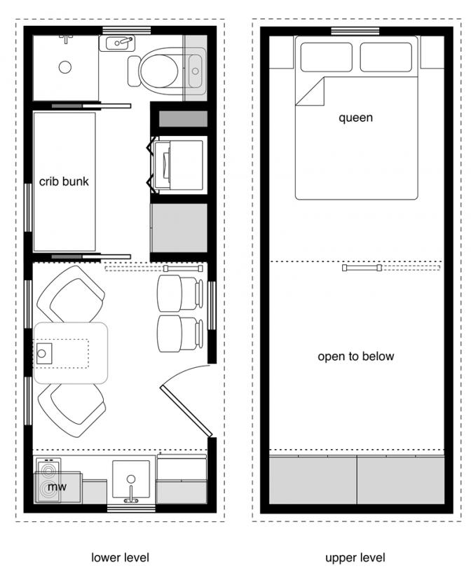 Family Tiny House Design 20 Ft Floor Plans 20 Ft Tiny House