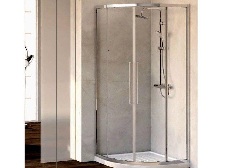 Box doccia angolare in vetro temperato KUBO mod. R by