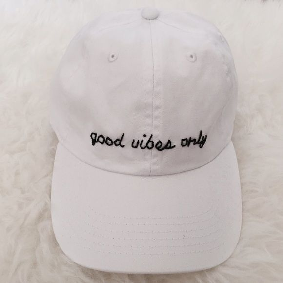 Good Vibes Only Baseball Cap Brand new! Same baseball cap hat used as  Brandy Melville Can do it on a navy 6bc95443723
