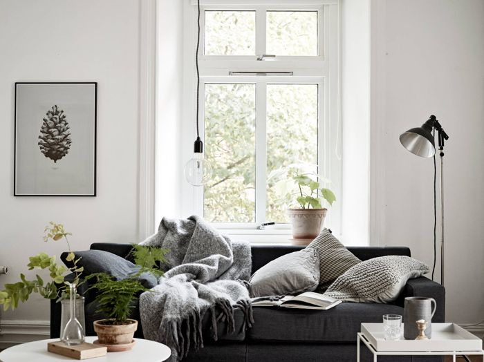 Cosy Vibes In A Small Scandinavian Style Apartment One Room Flat Living Room Designs Living Room Inspiration