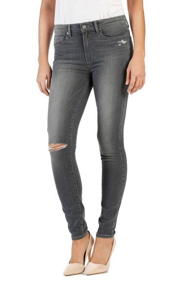 PAIGE Trascend Hoxton High Rise Ultra Skinny Jeans (Nila Destructed). #paige #cloth #
