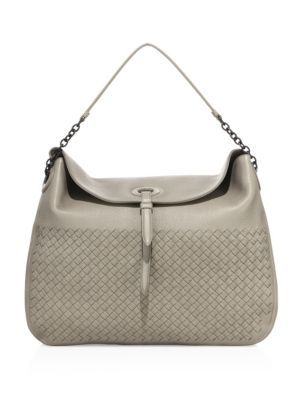 113a5e4568 BOTTEGA VENETA Cervo Intrecciato Leather Hobo Bag.  bottegaveneta  bags   shoulder bags  lining  suede  hobo