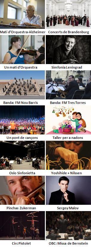 Concerts a L'Auditori (Barcelona): segona quinzena de maig 2016