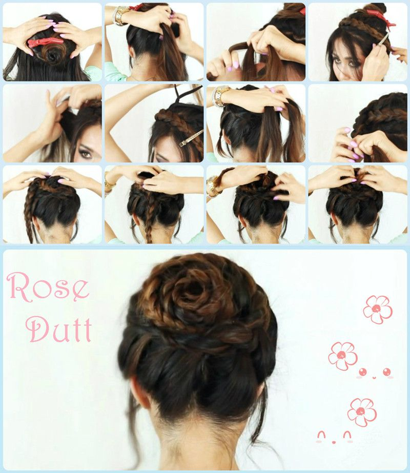 rose braid hair tutorial frisuren anleitung frisuren. Black Bedroom Furniture Sets. Home Design Ideas