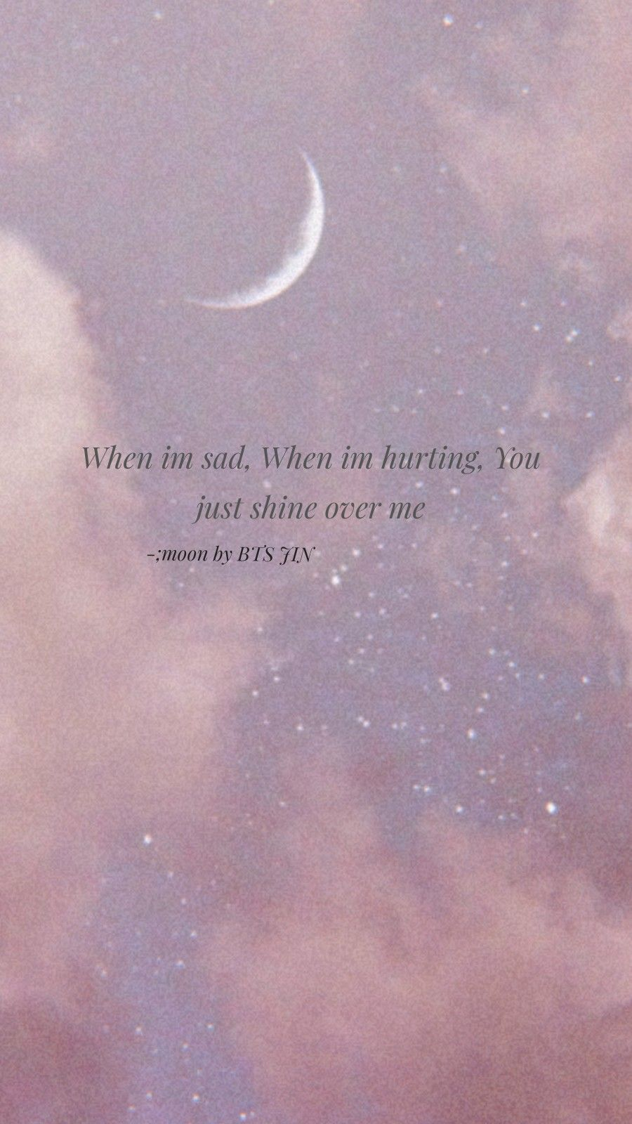 Moon By Bts Jin In 2020 Bts Lyrics Quotes Bts Wallpaper Lyrics Moon And Star Quotes