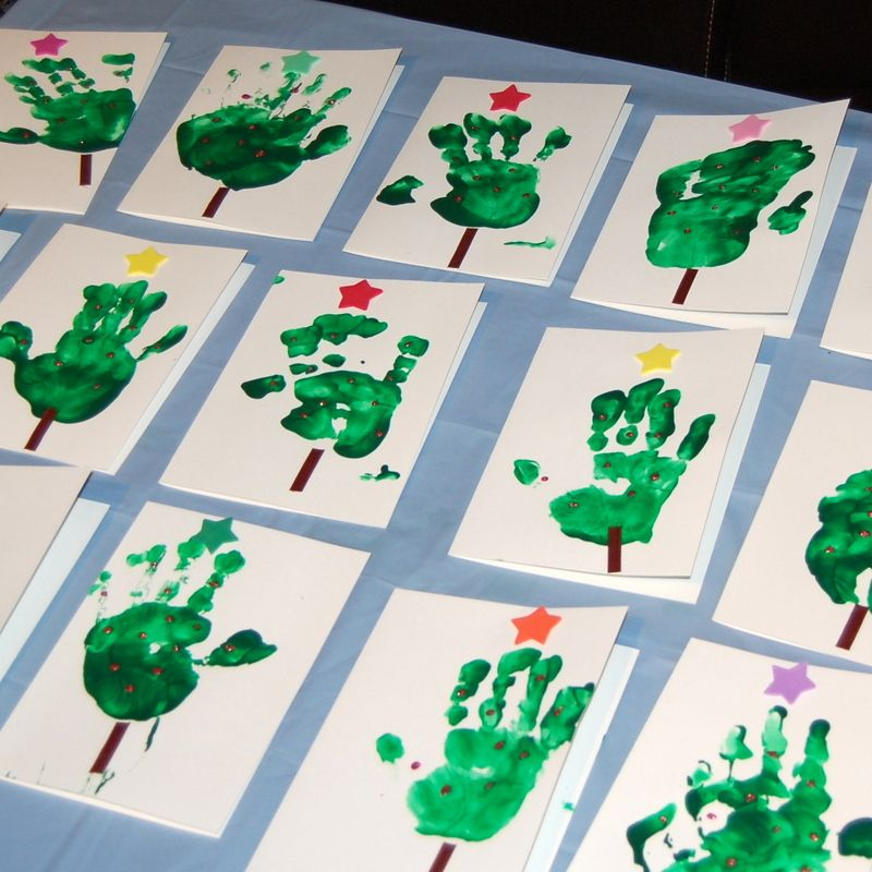 Christmas card crafts for kids - before there was Pinterest ...