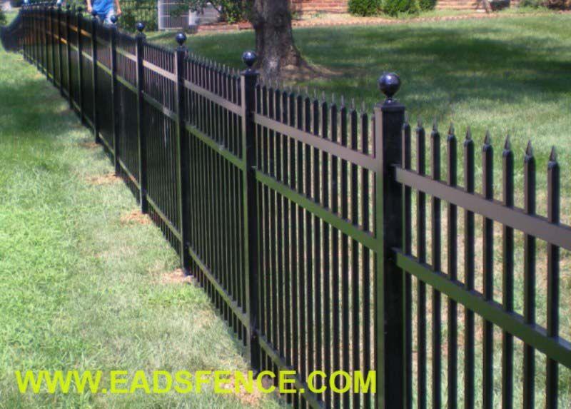 S1 Bennington Specrail Aluminum Fence With Ball Post Caps