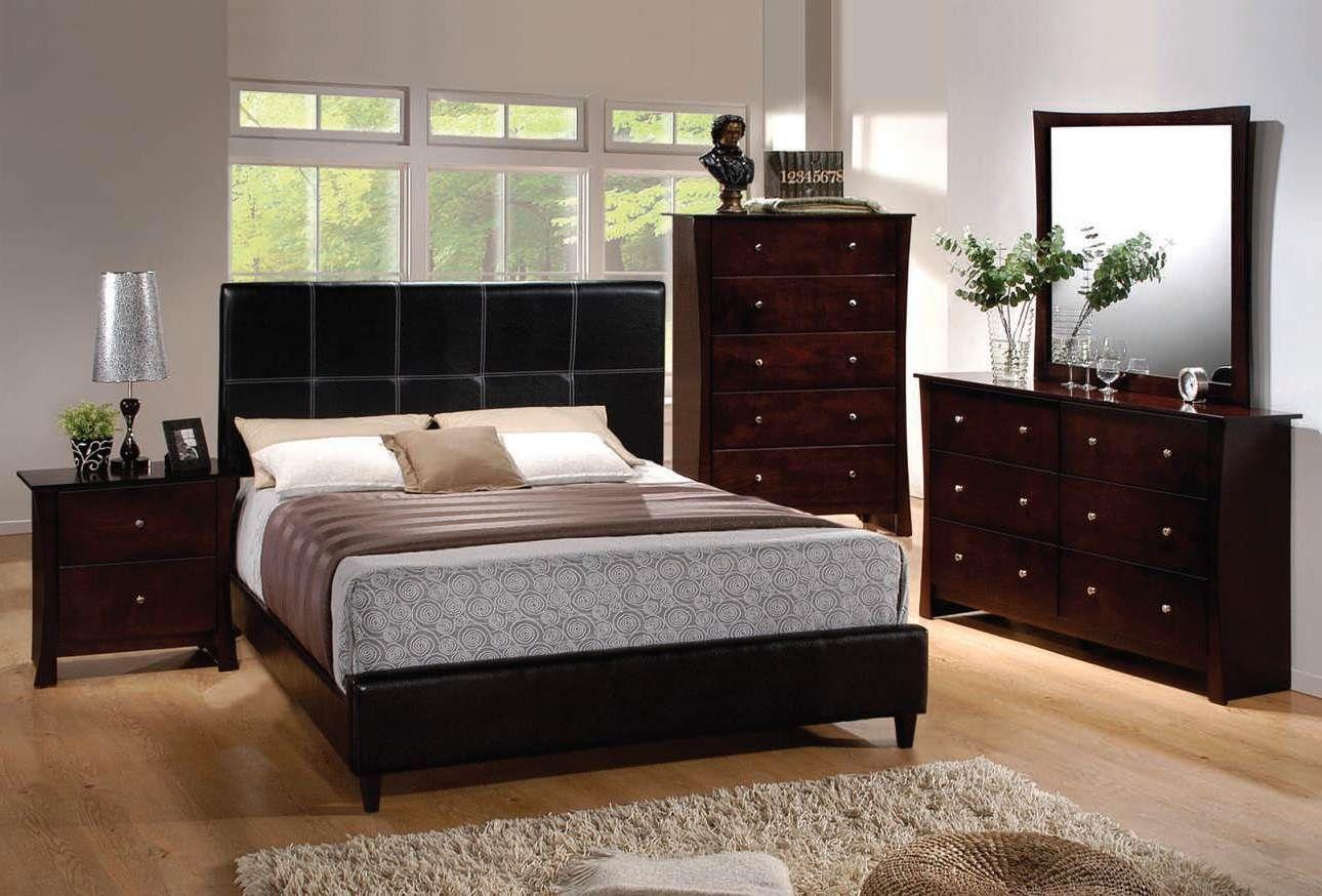 Ridge Transitional Espresso Pu Mirror Furniture, Bedroom