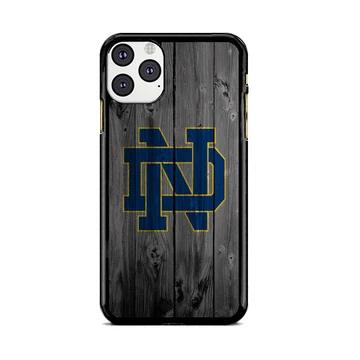 University Of Notre Dame Logo Dark Wood Wallpaper Iphone 11 Pro
