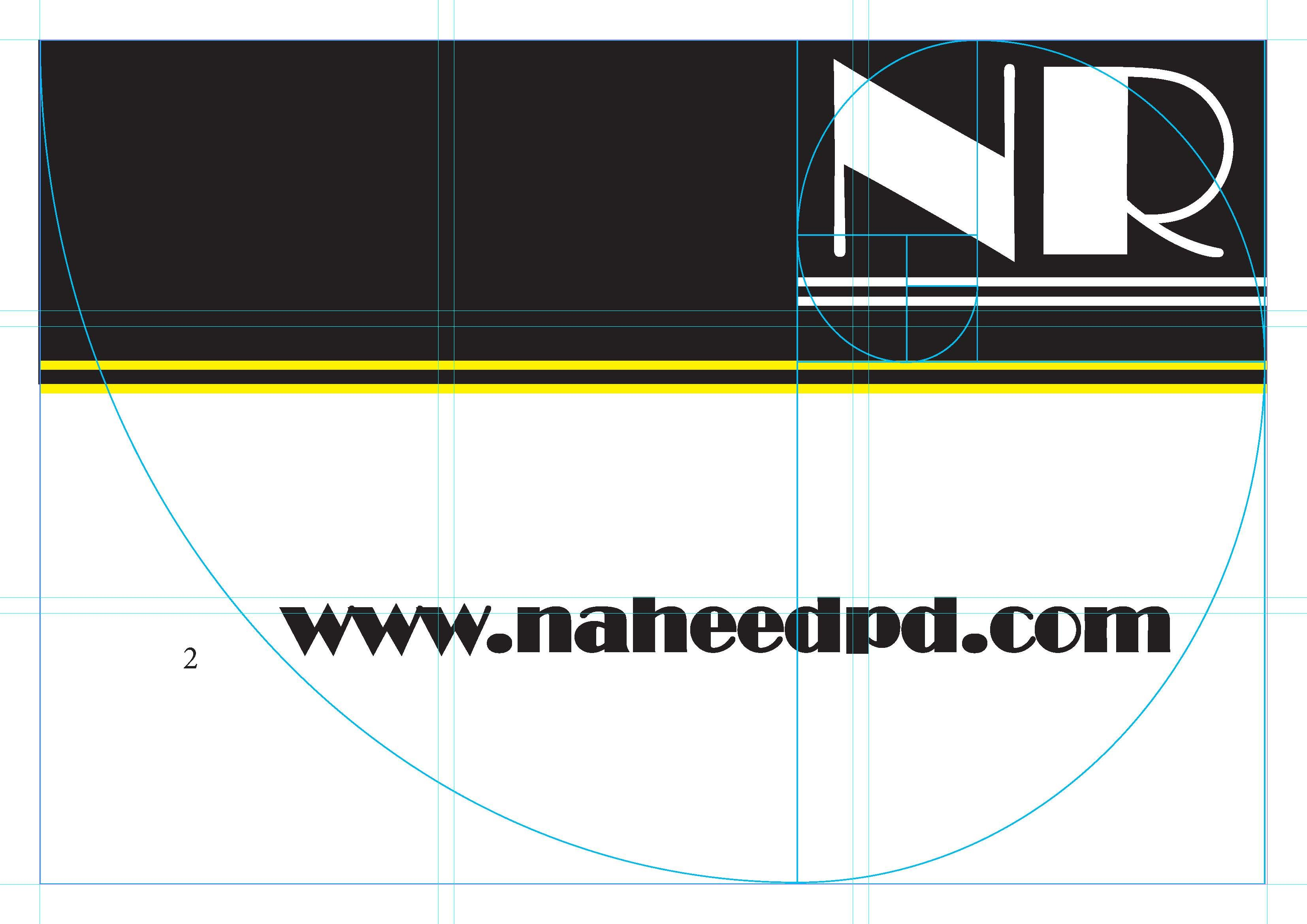 golden ratio business card with guides pde1350 design tools