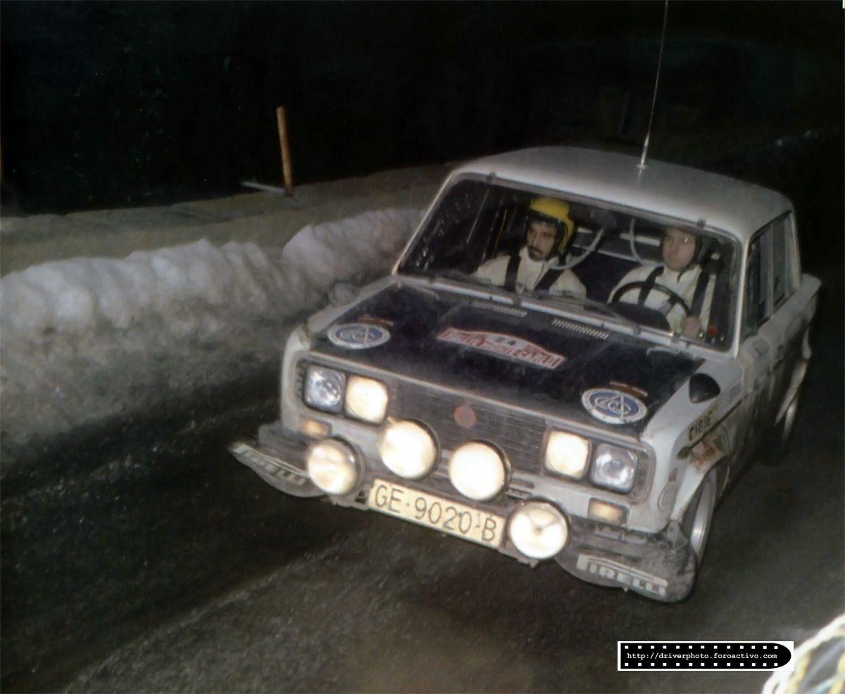 Salvador Servia Jorge Sabater Seat 1430 1800 7º Montecarlo 1977 Coches Clasicos Coches Familiares Rally
