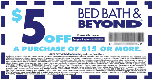 Bed Bath And Beyond 5 Off 15 Bed Bath And Beyond Bed Bath And Beyond Coupon