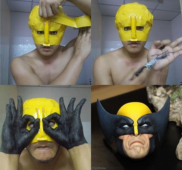 Lol Man Dresses Up In Funny And Creative Low Budget Cosplay Outfits Cosplay Gracioso Memes Divertidos Chistes De Marvel