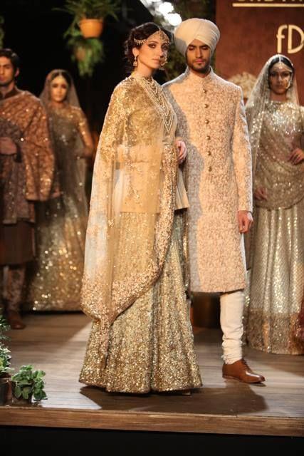 Dulhan material.  Delhi Couture Week, 2013 Sabyasachi Mukherjee