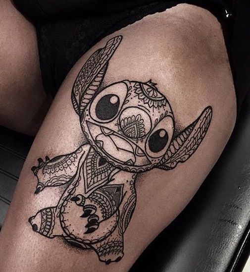 Stiched Leg Tattoo: 60 Mind-Blowing Thigh Tattoos For Women