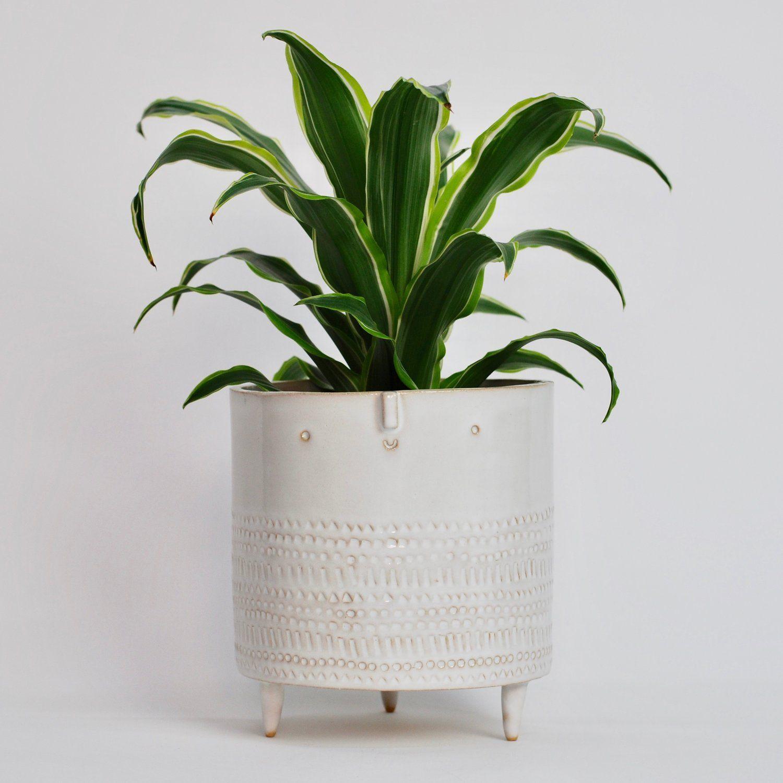 Extra Large Tripod Planter White Stamped — Atelier 400 x 300