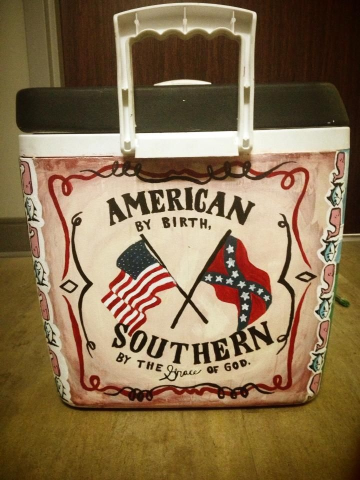 American #Southern #Cooler #Fraternity   Cooler painting
