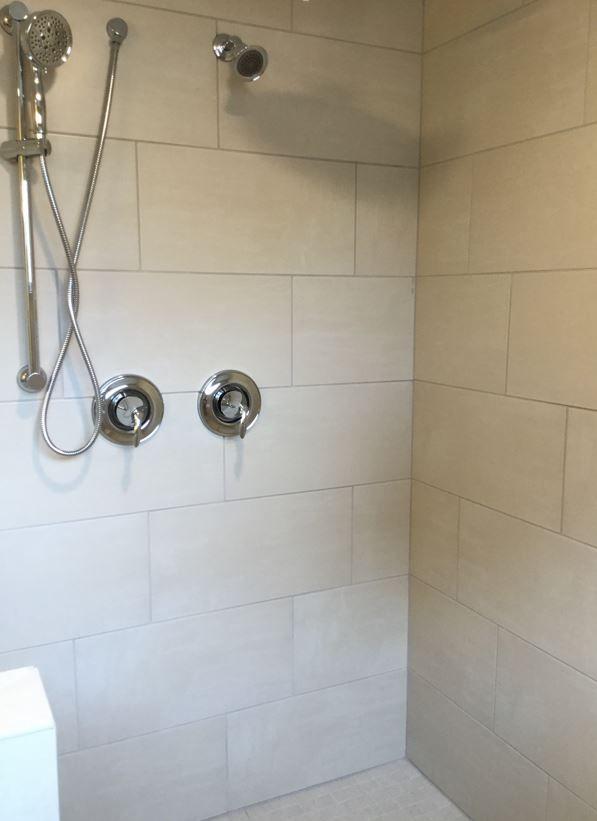 garden shower tile bathroom